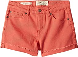 Jenna Stretch Cuffed Shorts in Spiced Coral (Big Kids)