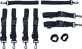 Kuryakyn 5163 Acessório de viagem de motocicleta: Kit de alça de montagem de bagagem premium, preto