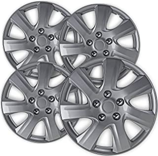 16 inch Hubcaps Best for 2010-2011 Toyota Camry - (Set of 4) Wheel Covers 16in Hub Caps Silver Rim Cover - Car Accessories for 16 inch Wheels - Snap On Hubcap, Auto Tire Replacement Exterior Cap