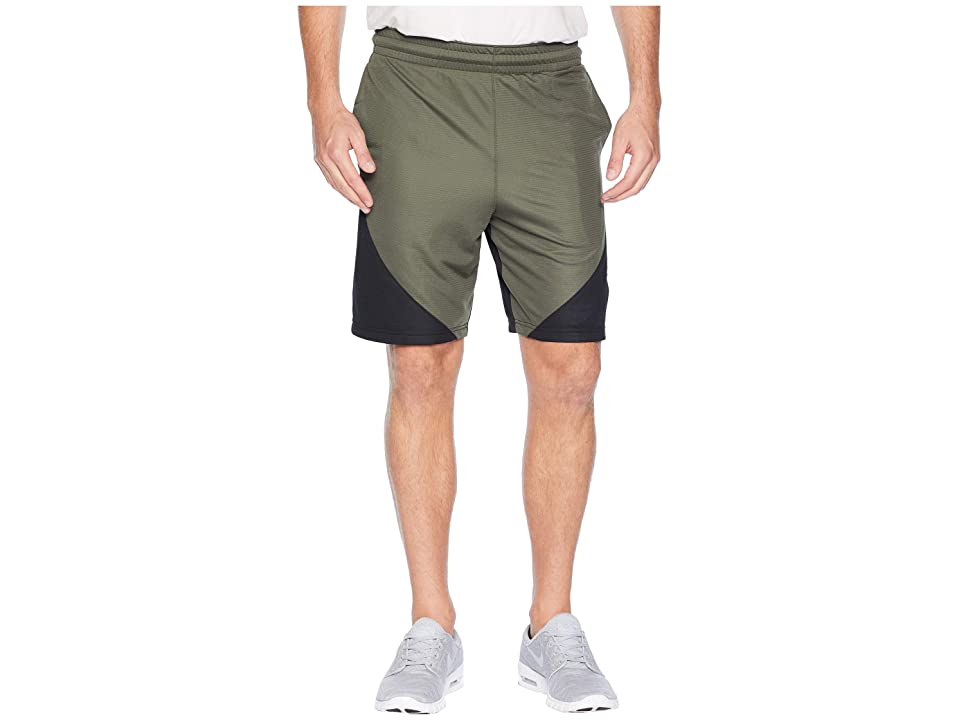 Nike Dry 9 Basketball Short (Cargo Khaki/Black/University Red) Men