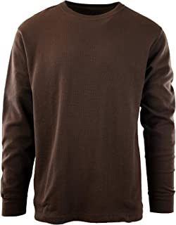 ChoiceApparel Mens Long Sleeve Thermal Waffle Pattern Crew Neck Shirts (Many Colors)