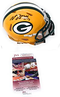 Davante Adams Green Bay Packers Signed Autograph Speed Mini Helmet JSA Witnessed Certified