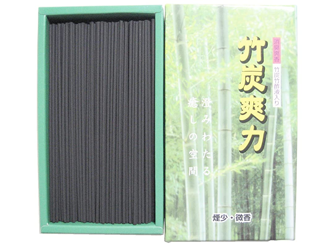 硬いバンジョー一致淡路梅薫堂の竹炭お線香 竹炭爽力微香 95g #250 ×20