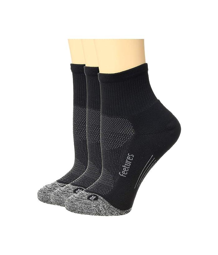 Feetures Elite Light Cushion Quarter 3 Pair Pack