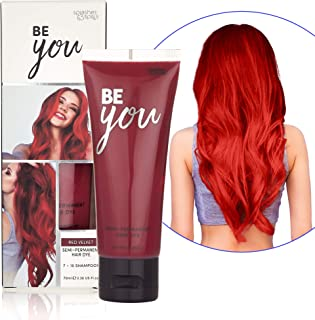 Semi-Permanent Red Velvet Hair Dye - Vibrant 2.36 Oz. Tubes Temporary Hair Color - Ammonia and Peroxide Free -Vegan and 100% Cruelty-Free Toner - Lasts for 7-15 Shampoos - by Splashes and Spills