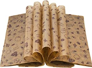Christmas Wax Paper Deli Wraps Food Wrapping Basket Liners Deli Papers for Handmade Soap,Cookies and Carmels (100 sheets, ...