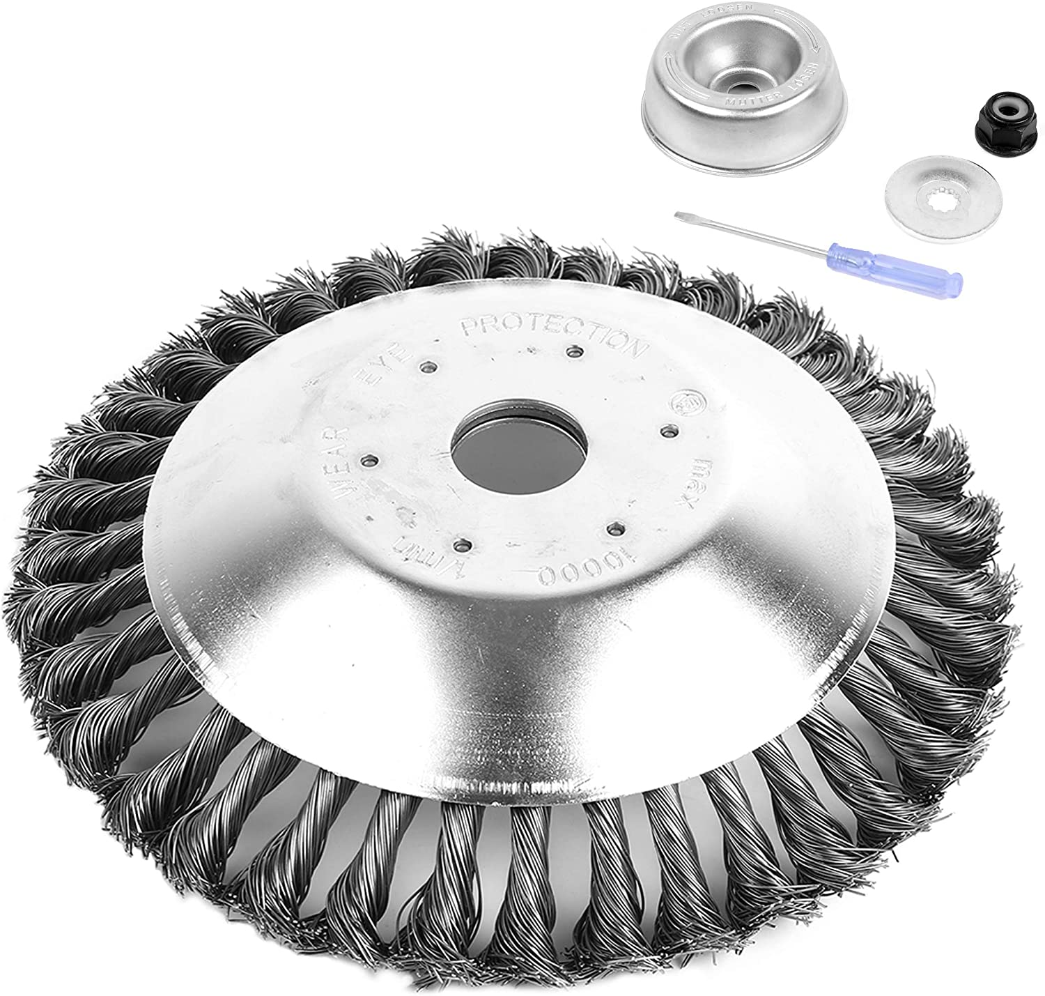 AR-PRO 8-Inch Rotary wholesale Steel Wire Blade Weed Nashville-Davidson Mall Brush with Universal