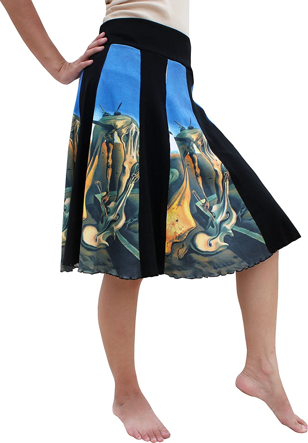 RaanPahMuang Salvador Dali Daddy Longlegs Knee Length Panel Skirt