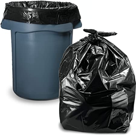 45 Gallon Trash Bags 100 Count W Ties Large Black Heavy Duty Large Garbage Bags 39 Gallon 40 Gallon 42 Gallon 44 Gallon 45 Gallon Large Trash Bag Can Liners Capacity Health Personal Care
