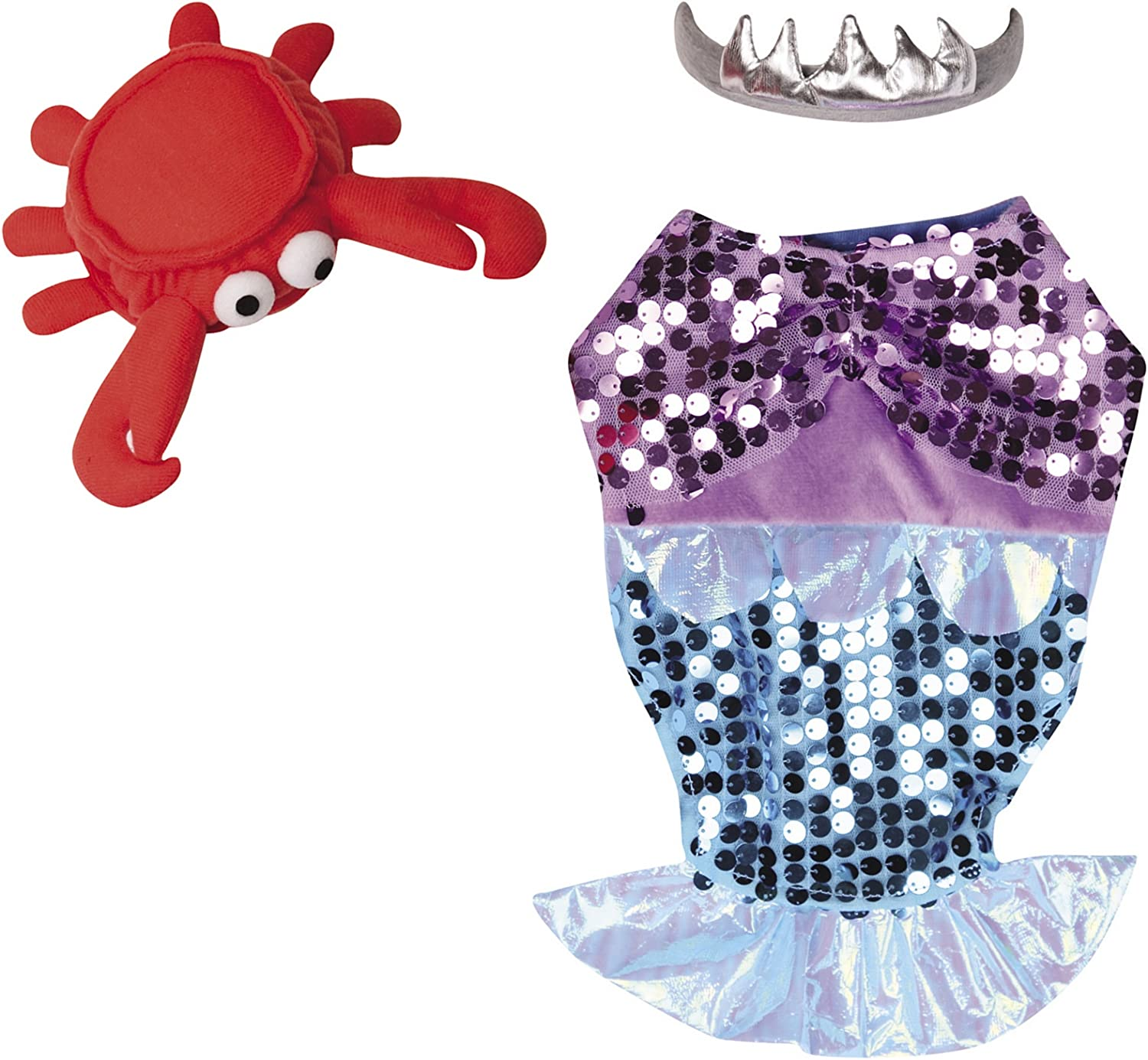 Casual Canine Polyester Dog GlimMermaid Costume, XLarge, 24Inch, Purple