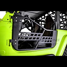 Restyling Factory 97-06 Jeep Wrangler TJ Rock Crawler Body Side Armor Rocker Guard Replacement Body Armor Tubular 2 Door (Black)