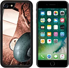 MSD Premium Apple iPhone 7 Aluminum Backplate Bumper Snap Case iPhone7 IMAGE ID: 11966468 Old book and electric lamp in retro style
