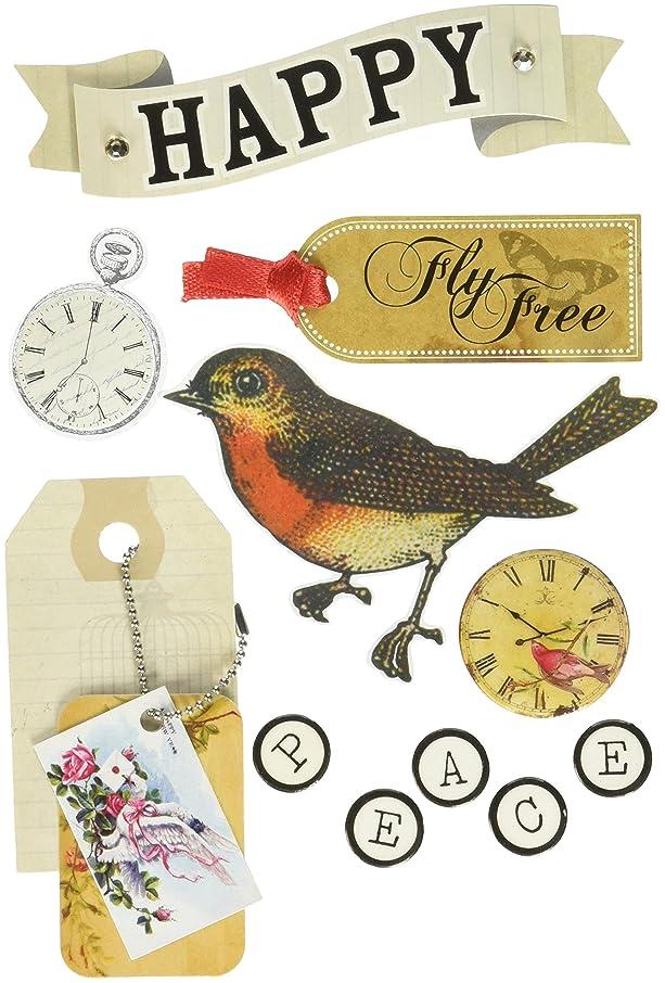 me & my BIG ideas Soft Spoken Themed Embellishments, Vintage Fly Free