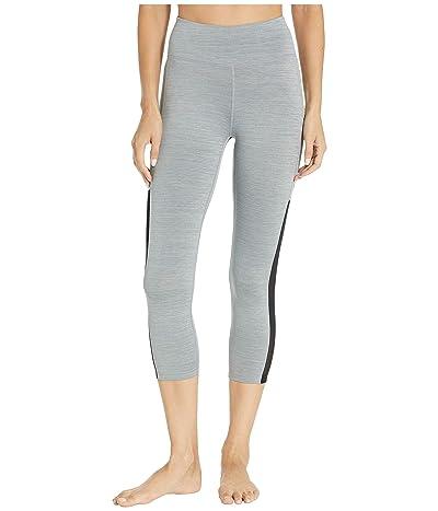Nike All-In Mesh Pocket Crop Tights (Iron Grey/Heather/Black/Black) Women