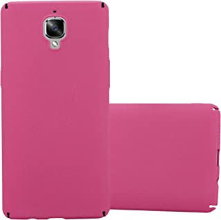 Cadorabo Case Works with OnePlus 3 / 3T in Frosty Pink – Shockproof and Scratch Resistent Plastic Hard Cover – Ultra Slim Protective Shell Bumper Back Skin