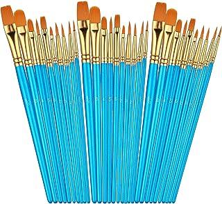 مجموعه برس های رنگ آمیزی Sooez 30Pcs ، برس موهای نایلونی موی نوک تیز برای آبرنگ روغن اکریلیک ، 10 اندازه مختلف برای رنگ آمیزی ناخن بدن ، وسایل نقاشی هنرهای نقاشی کودکان بزرگسال