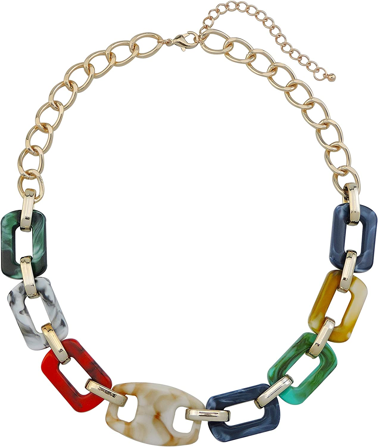Firstmeet Fashion Chunky Link Chain Long Oval Necklace for Women …