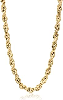 24k Gold Chain 3.5mm by Elegant Image Jewelry - Gold Chains for Men - Gold Necklace for Women - Great Gold Rope Chains for...