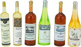 American Heritage Industries Dollhouse Wine Bottles- Miniature Wine Bottles for 1:12 Scale Dollhouses, Wine Bottle Set for Dolls