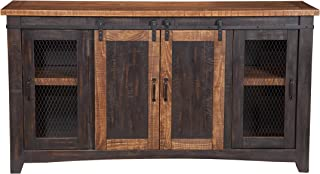 Martin Svensson Home Santa Fe TV Stand, Antique Black and Aged Distressed Pine