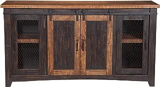 Martin Svensson Home 90905 Santa Fe TV Stand, Antique Black and Aged Distressed Pine