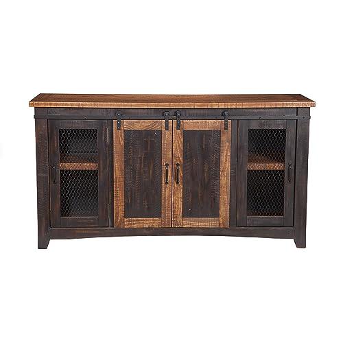 Martin Svensson Home 90905 Santa Fe TV Stand, Antique Black and Aged  Distressed Pine - TV Console Cabinet: Amazon.com