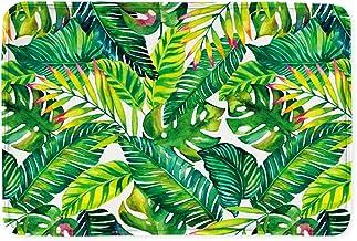 Goodbath Banan Leaf Bath Mats, Tropical Palm Tree Leaves Non Slip Bath Rugs Absorbent Bathroom Rugs Kitchen Floor Mat Carp...