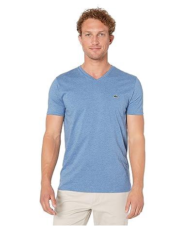 Lacoste Short Sleeve Pima Jersey V-Neck T-Shirt (Alby Chine) Men
