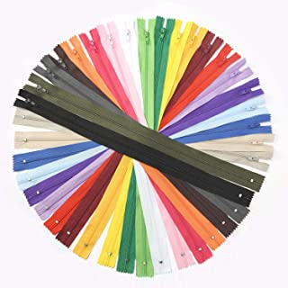 60pcs Nylon Coil Zippers, 16 Inch Colorful Sewing Zippers Supplies for Tailor Sewing Crafts (20 Assorted Colors)