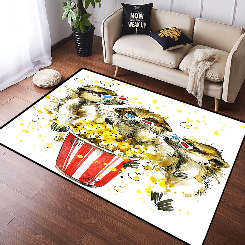 ZOMOY price NEW before selling ☆ Long Floor Mat Carpet Funny Meerkat Tshirt Popcorn and Gra