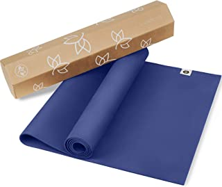 Natural Rubber Yoga Mat Version 2 - Eco Yoga Mat - Newly Improved Non Slip Pattern - Reversible Natural Rubber - Includes ...
