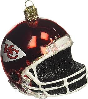 Old World Christmas Glass Blown Ornament Kansas City Chiefs Helmet