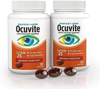 Sponsored Ad - Bausch + Lomb Ocuvite Lutein 25 Lutein & Zeaxanthin Supplement, 30 Softgels (2 Pack)
