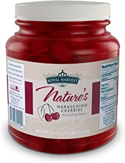 Royal Harvest Nature's Maraschino Cherries With Stems, 72 Ounce