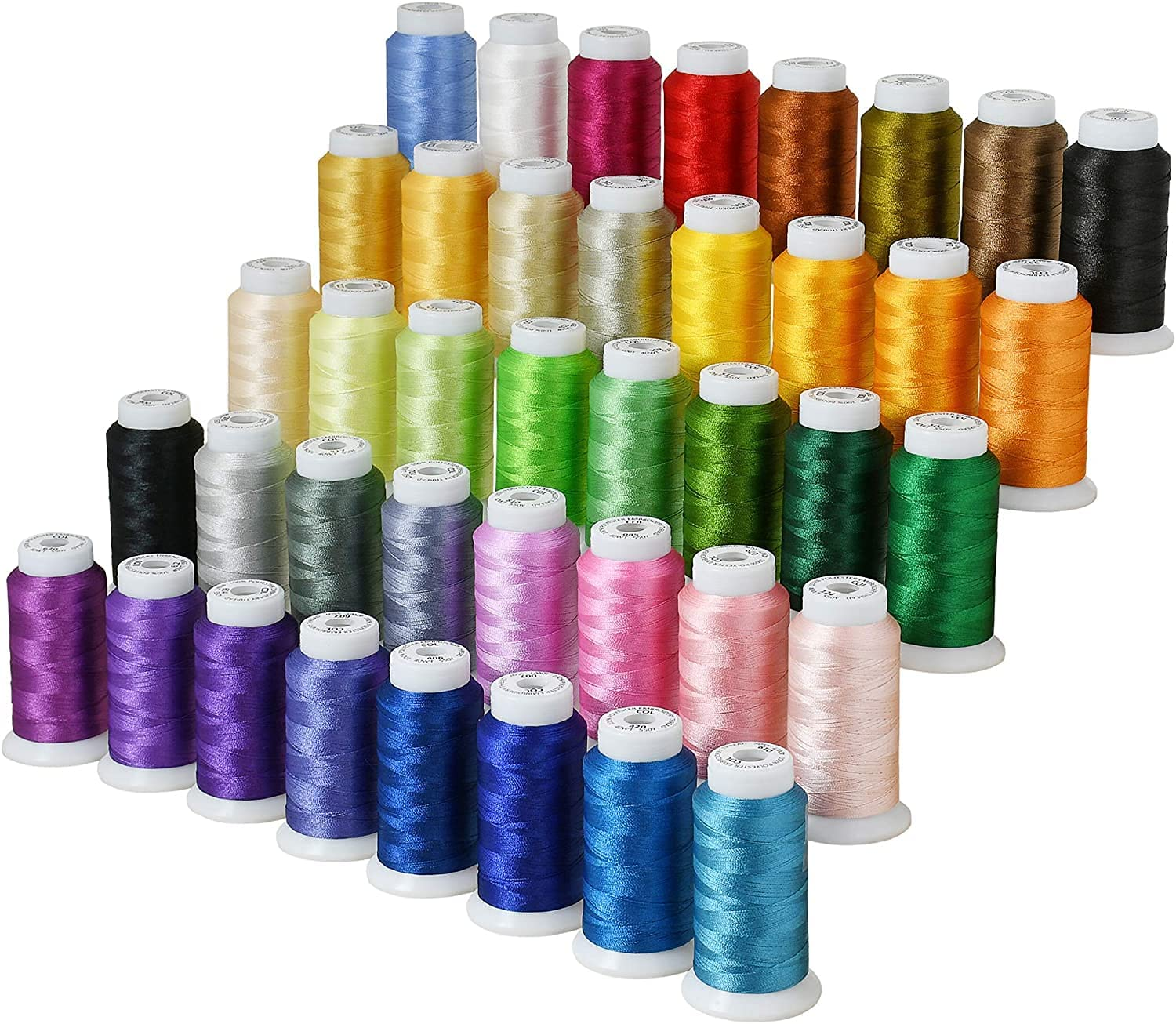 40 San Jose Mall Colors Polyester Embroidery Machine Attention brand Ba for Brother Kit Thread