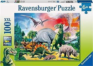 Ravensburger - Puzzle enfant - Au Milieu Des Dinosaures - 100 Pièces