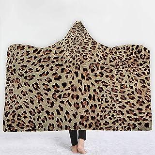 [HomeMiYN]ひざかけ ブランケット大判 着る毛布 フード付き アニマル柄 16色