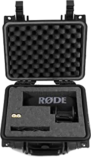 """CASEMATIX 11"""" Airtight Camera Microphone Case for Rode VideoMic Pro +, Pro R, Pro Shotgun Condenser Microphone, Rycote Lyre, VMPR VideoMic Pro R, 3.5mm TRS Cable, Charge Cable and More"""
