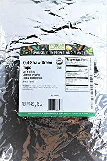 Frontier Natural Products Organic Cut & Sifted Oat Straw Green Tops - 16 oz