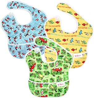 Best Bumkins Dr Seuss SuperBib, Baby Bib, Waterproof, Washable, Stain and Odor Resistant, 6-24 Months (Pack of 3) - Green Eggs, Yellow Fish, Cat In The Hat Review