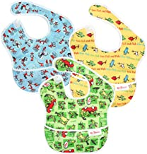 Bumkins Dr Seuss SuperBib, Baby Bib, Waterproof, Washable, Stain and Odor Resistant, 6-24..
