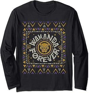 Marvel Black Panther Wakanda Forever Holiday Sweater Manche Longue