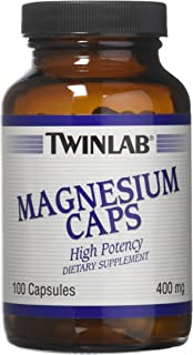 Magnesium,400 Mg By Twinlab - 100 Cap, Pack of 3