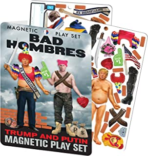 The Unemployed Philosophers Guild Bad Hombres - Trump and Putin Magnetic Dress Up Doll Play Set
