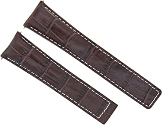 22MM LEATHER BAND STRAP FOR TAG HEUER CARRERA MONACO CALIBRE 6 1887 BROWN WS