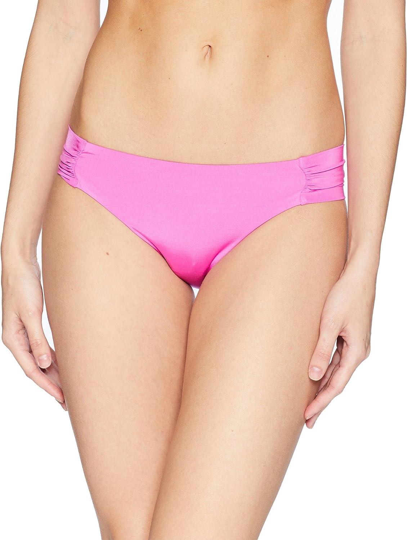 Trina Turk Women's Indo Solids Tab Side Hipster Bikini Bottom Shocking Pink