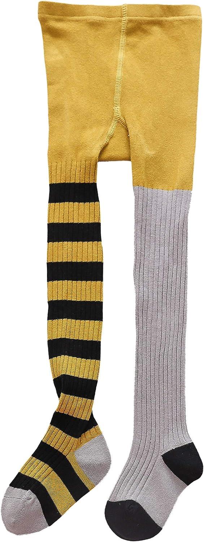 Baby Kid Girl Odd Striped Rib Pattern Cotton Tight Age 12-24M 2 3 4 5 6 7 Years