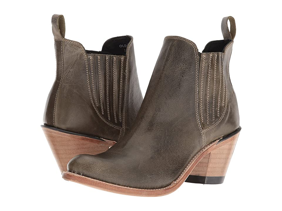 Old West Boots Gored Ankle Boot (Olive) Cowboy Boots