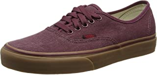 Vans Authentic Mens Brown Canvas Lace Up Sneakers Shoes 6.5