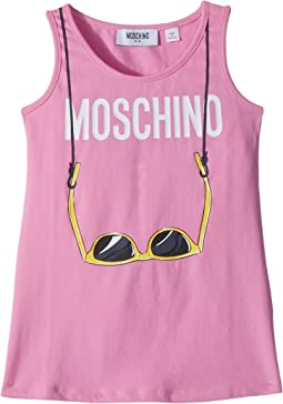 Moschino Kids - Logo Sunglasses Graphic Tank Top (Little Kids/Big Kids)